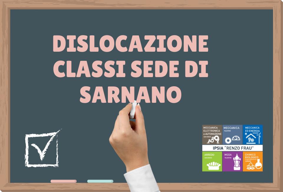 Dislocazione classi sede di Sarnano